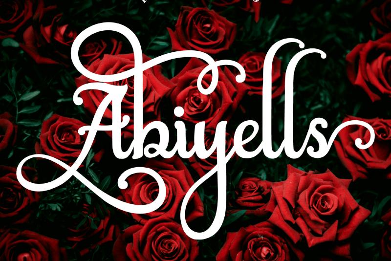 Download Abiyells font (typeface)