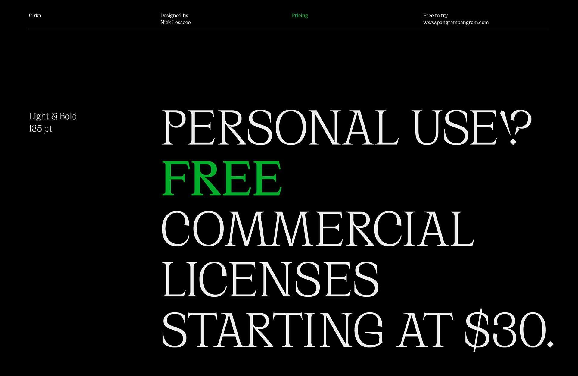 Download Cirka font (typeface)
