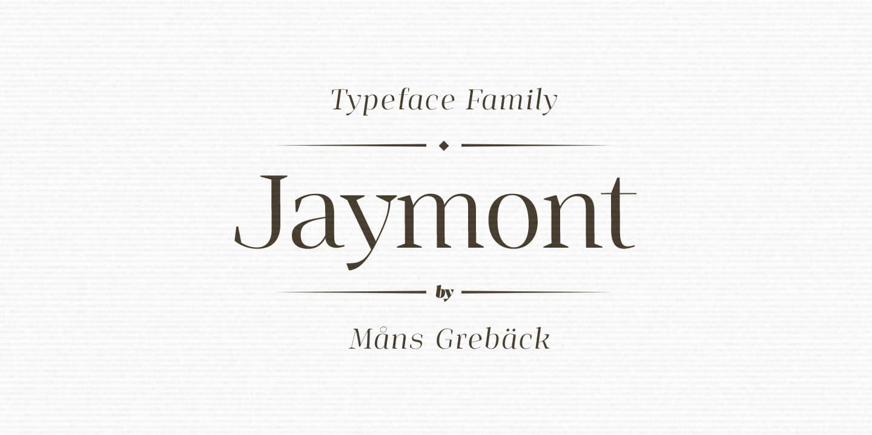 Download Jaymont font (typeface)