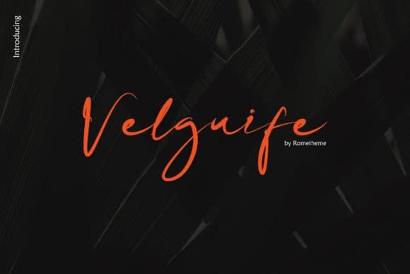 Download Velgiufe font (typeface)