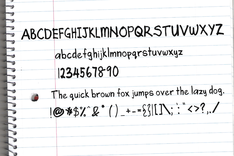 Download Angela's Handwriting font (typeface)