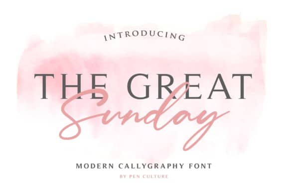 Download The Great Sunday font (typeface)