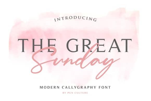 The Great Sunday шрифт скачать бесплатно