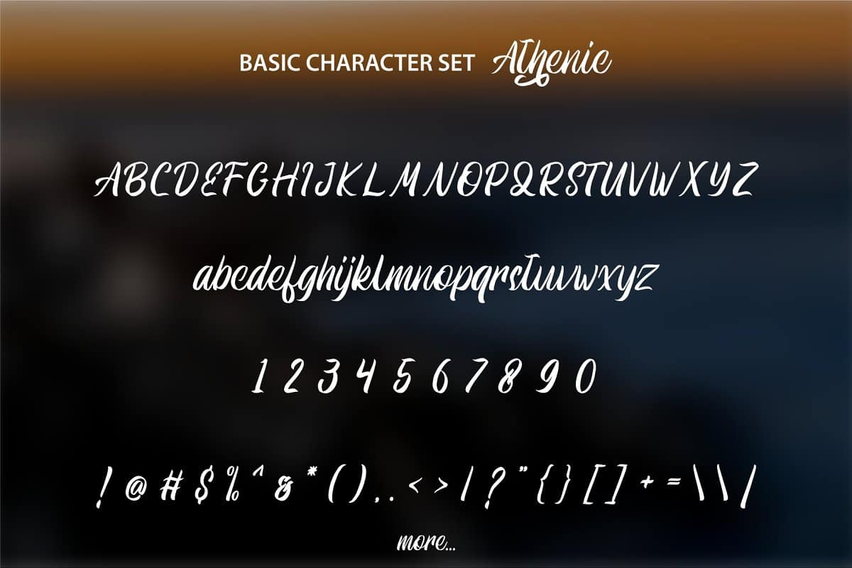 Download Athenic font (typeface)