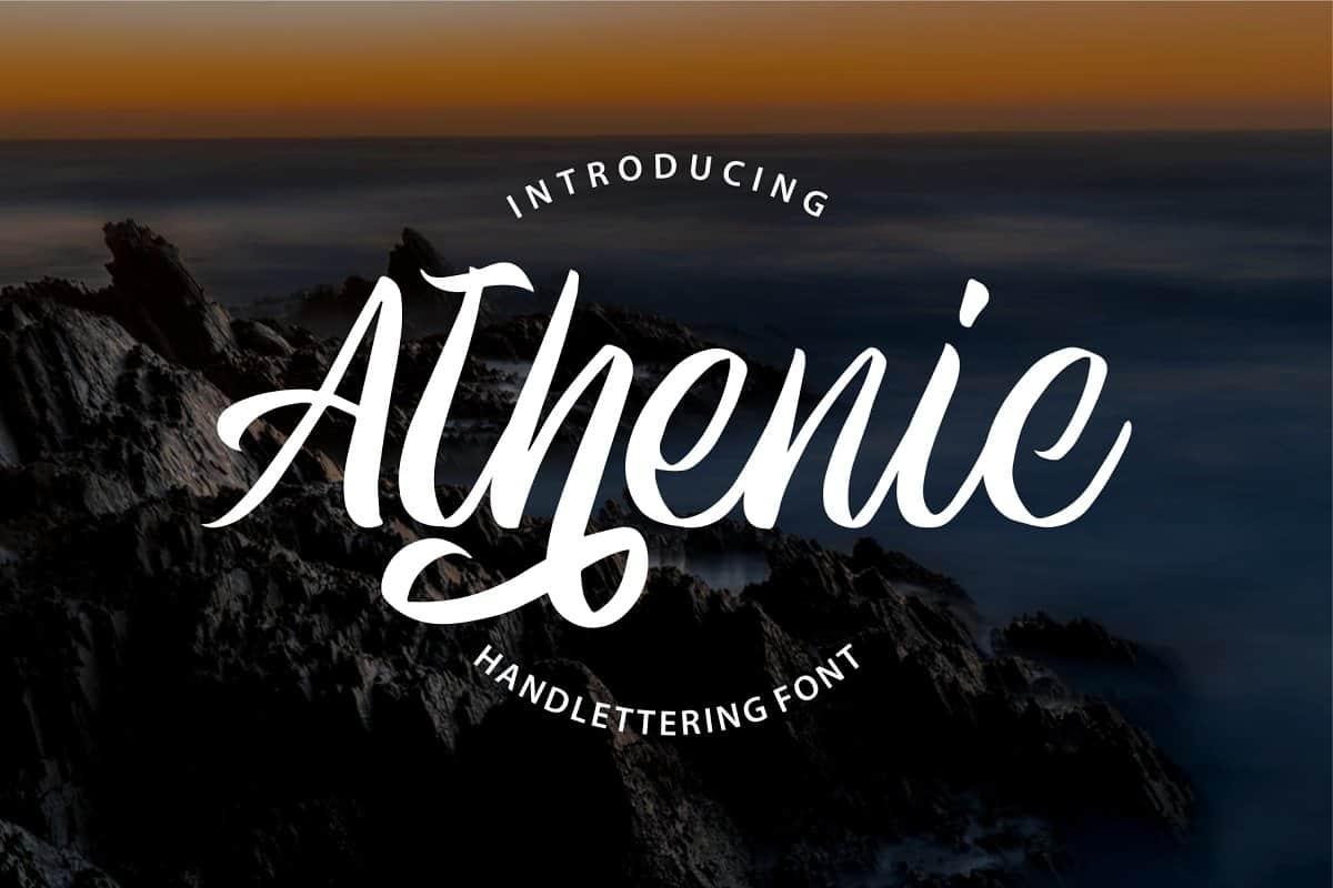 Athenic шрифт скачать бесплатно