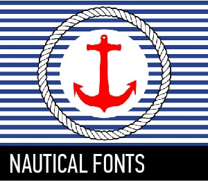 Download Nautical fonts font (typeface)