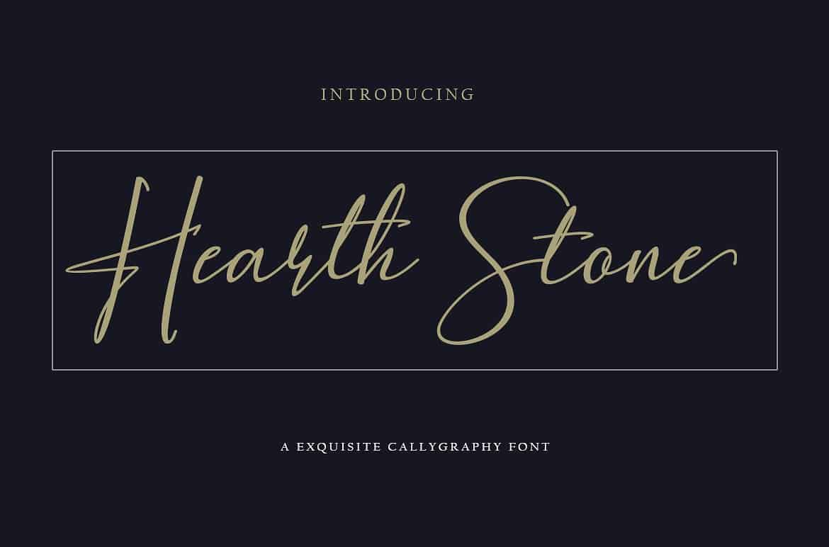 Download Hearth Stone font (typeface)