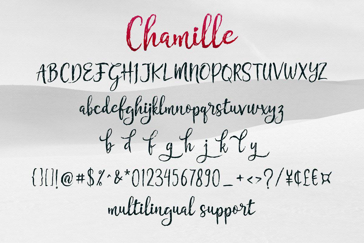 Download Chamille font (typeface)