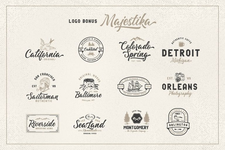 Download Majestika font (typeface)