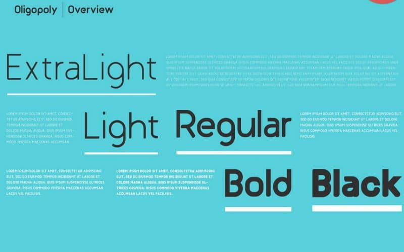 Download Oligopoly font (typeface)
