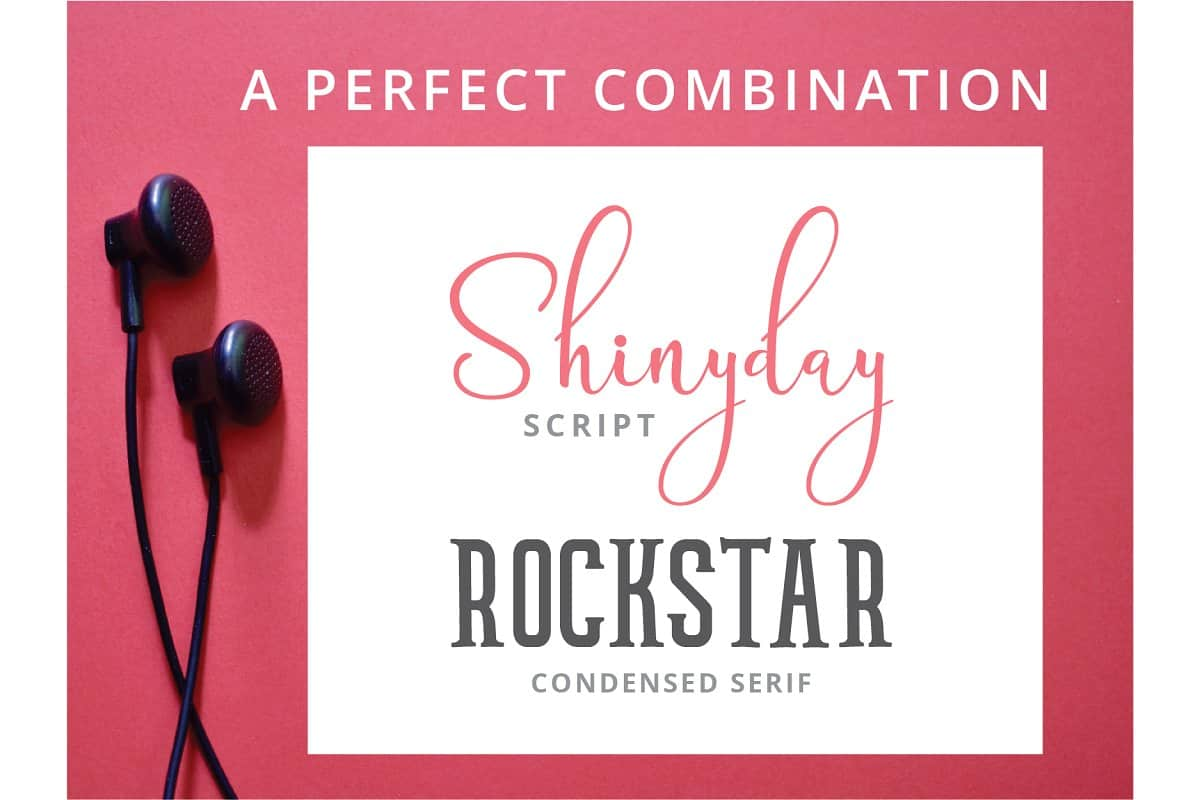 Download Shinyday & ROCKSTAR font (typeface)