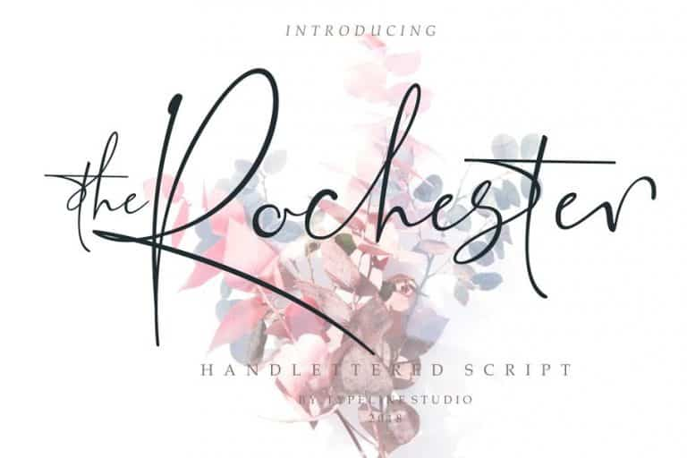 Download the Rochester font (typeface)