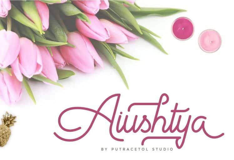 Download Aiushtya font (typeface)