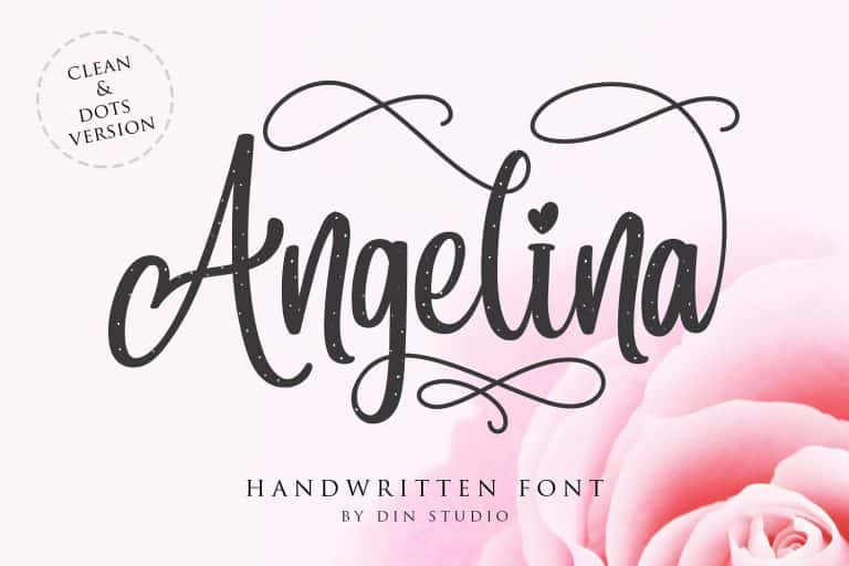 Download Angelina font (typeface)
