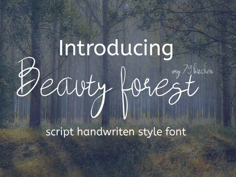 Download Beauty Forest font (typeface)