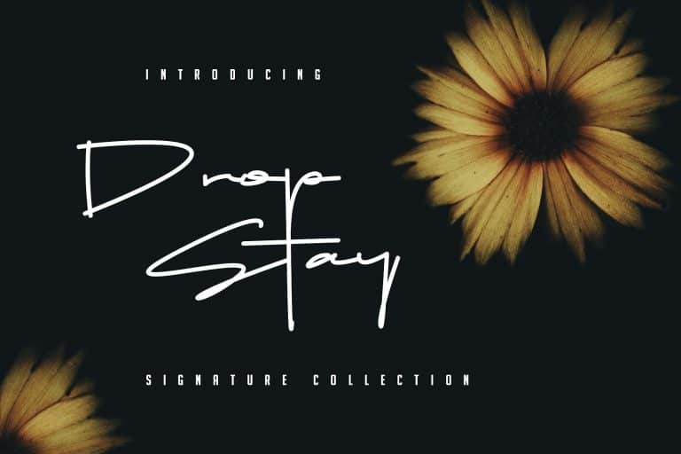 Download Drop Stay font (typeface)