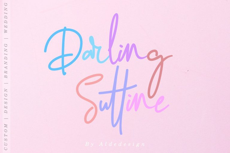 Download Darling Suttine font (typeface)