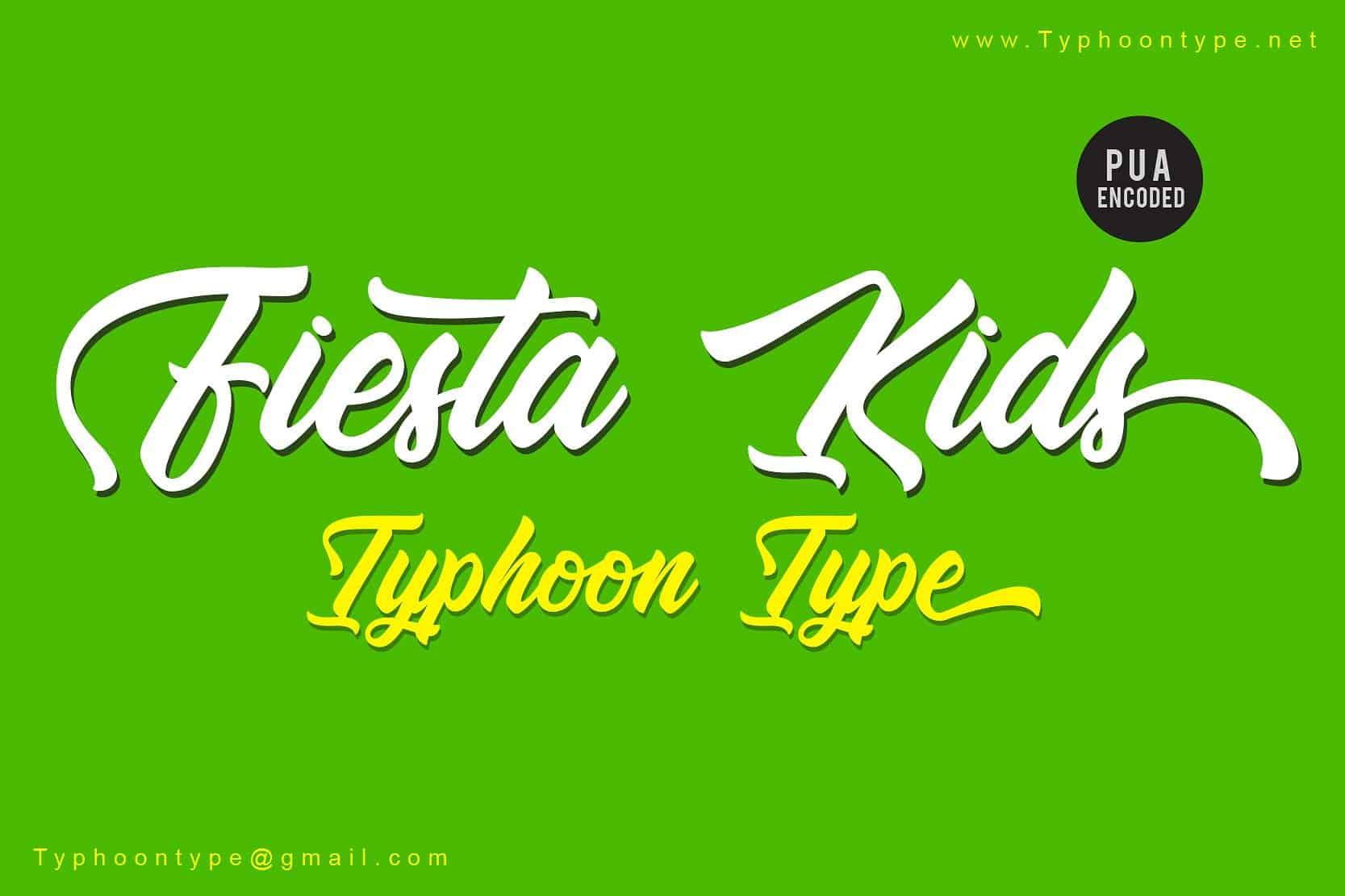 Download Fiesta Kids font (typeface)