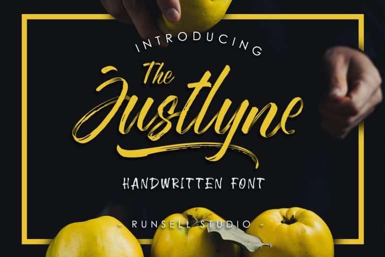 Download Justlyne font (typeface)