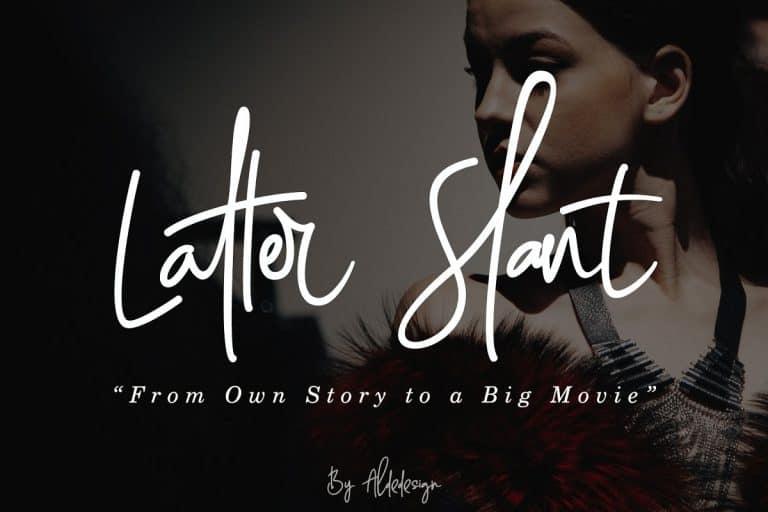 Download Latter Slant font (typeface)