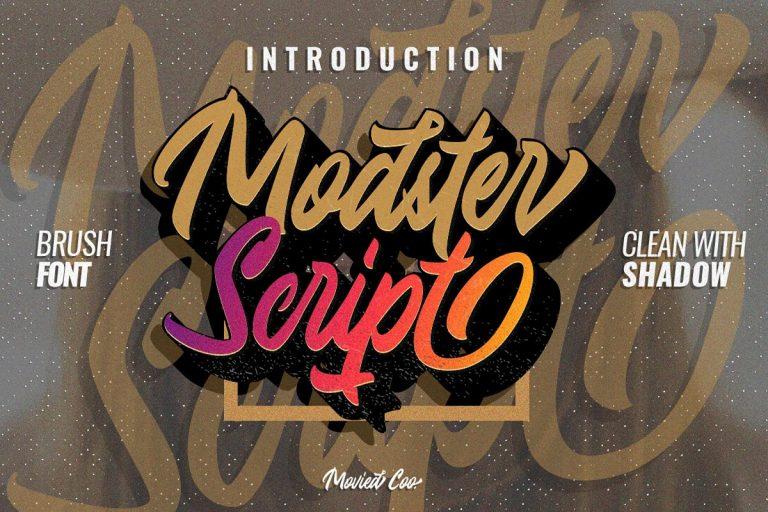 Download Modster font (typeface)