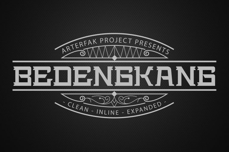 Download Bedengkang font (typeface)