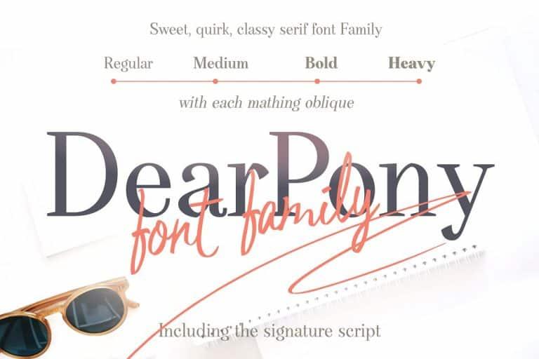 Download Dear Pony font (typeface)