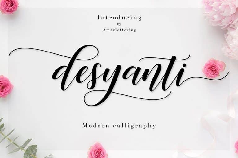 Download Desyanti font (typeface)