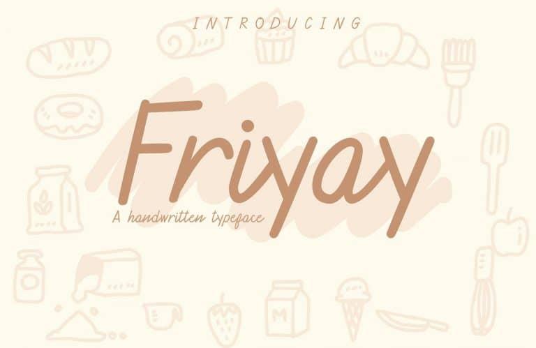 Download Friyay font (typeface)