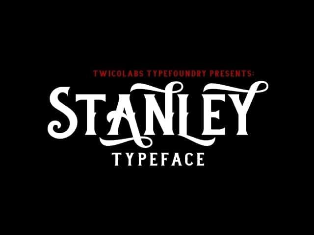 Download Stanley font (typeface)