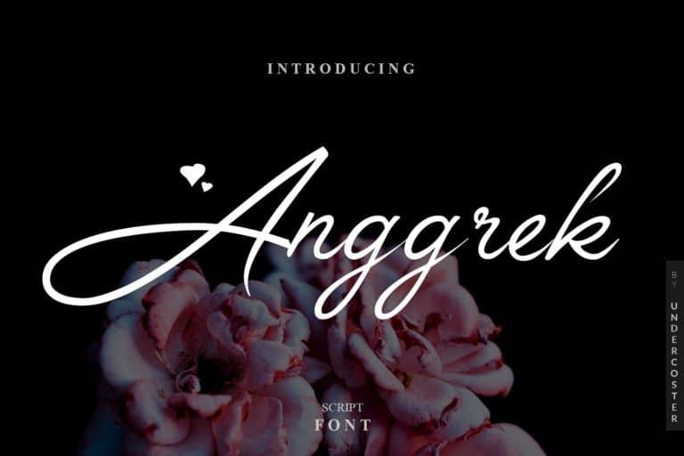 Download Anggrek font (typeface)
