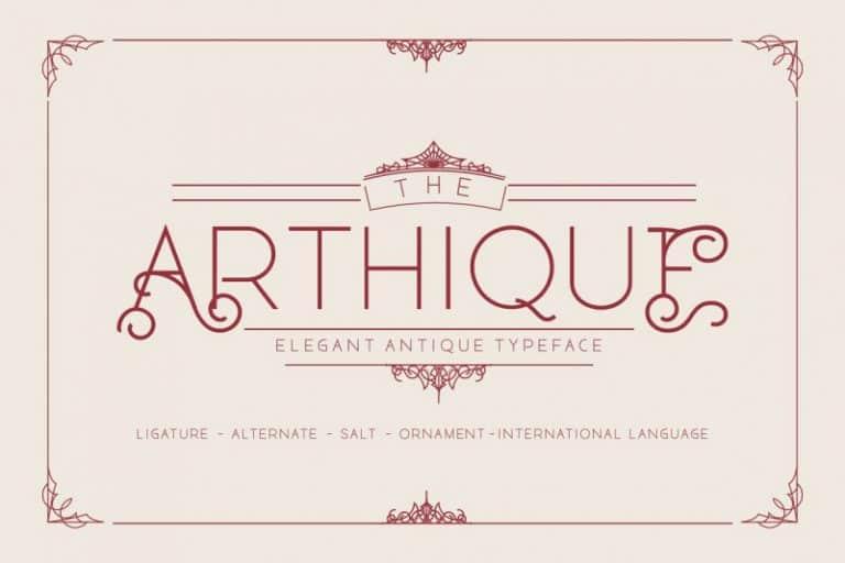 Download Arthique font (typeface)