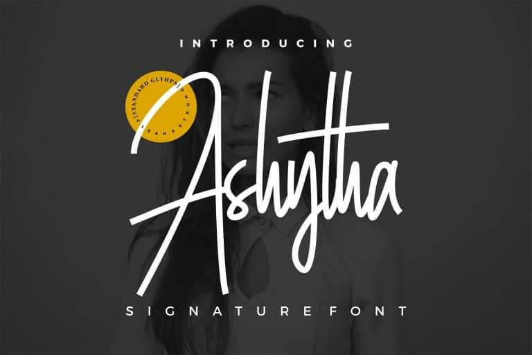 Download Ashytha font (typeface)