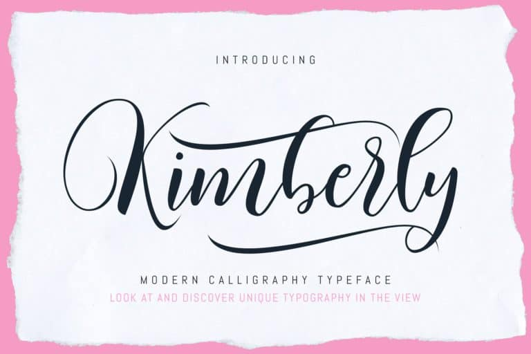 Download Kimberly font (typeface)