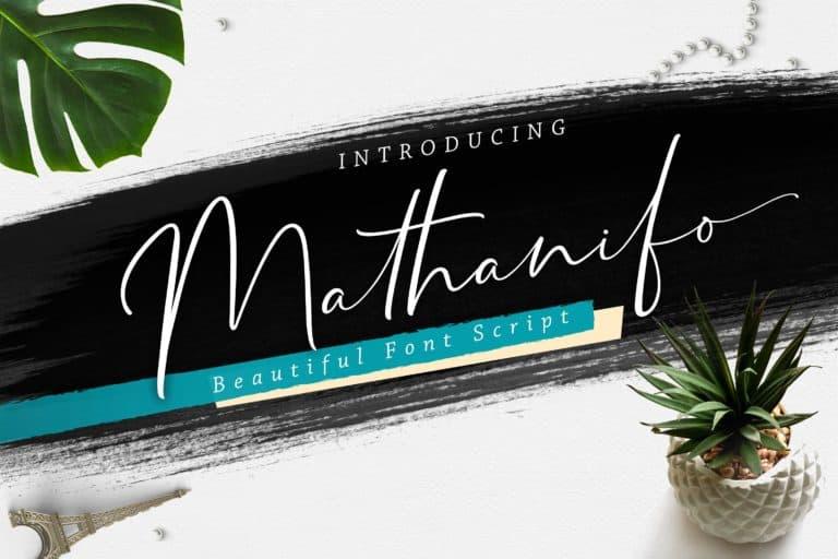 Download Mathanifo font (typeface)
