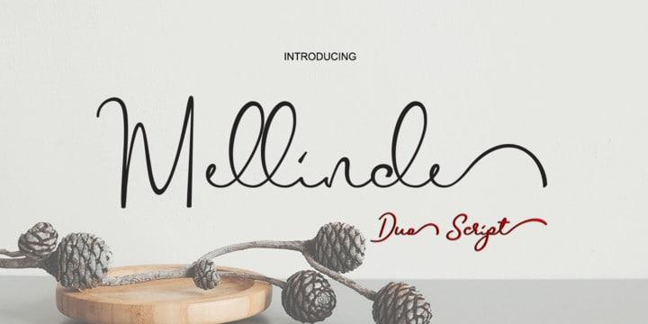 Download Mellinde font (typeface)