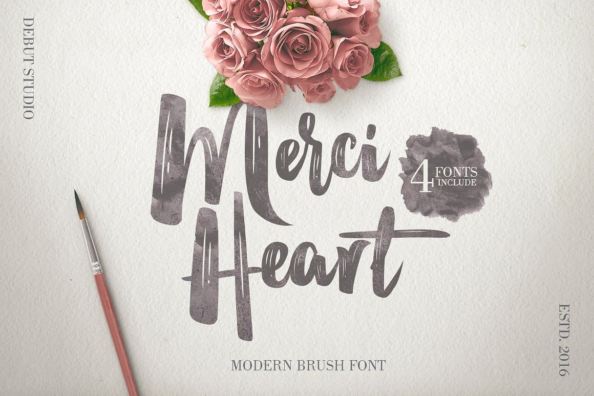 Download Merci Heart font (typeface)