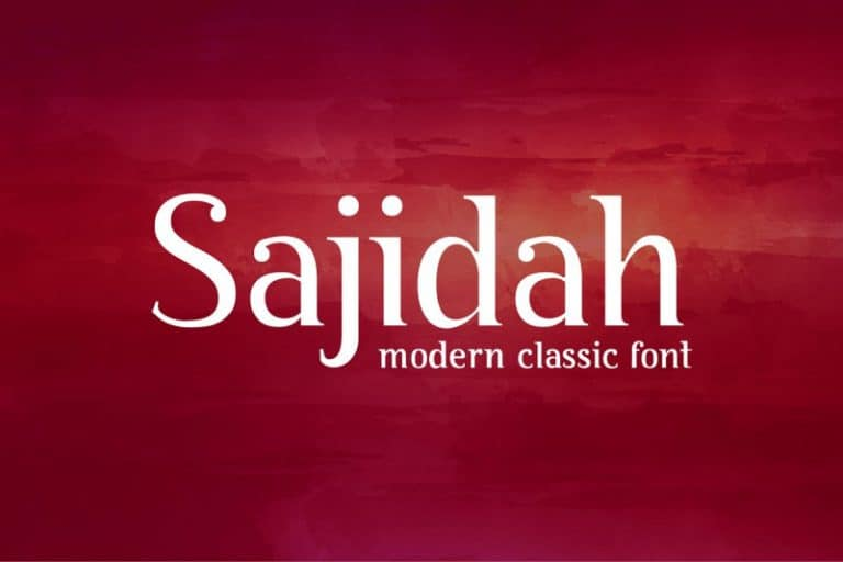 Download Sajidah font (typeface)