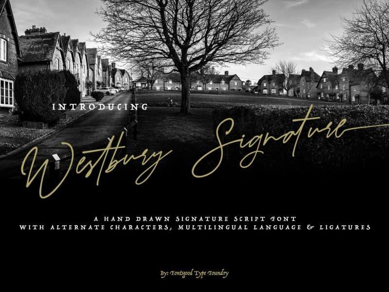 Download Westbury font (typeface)