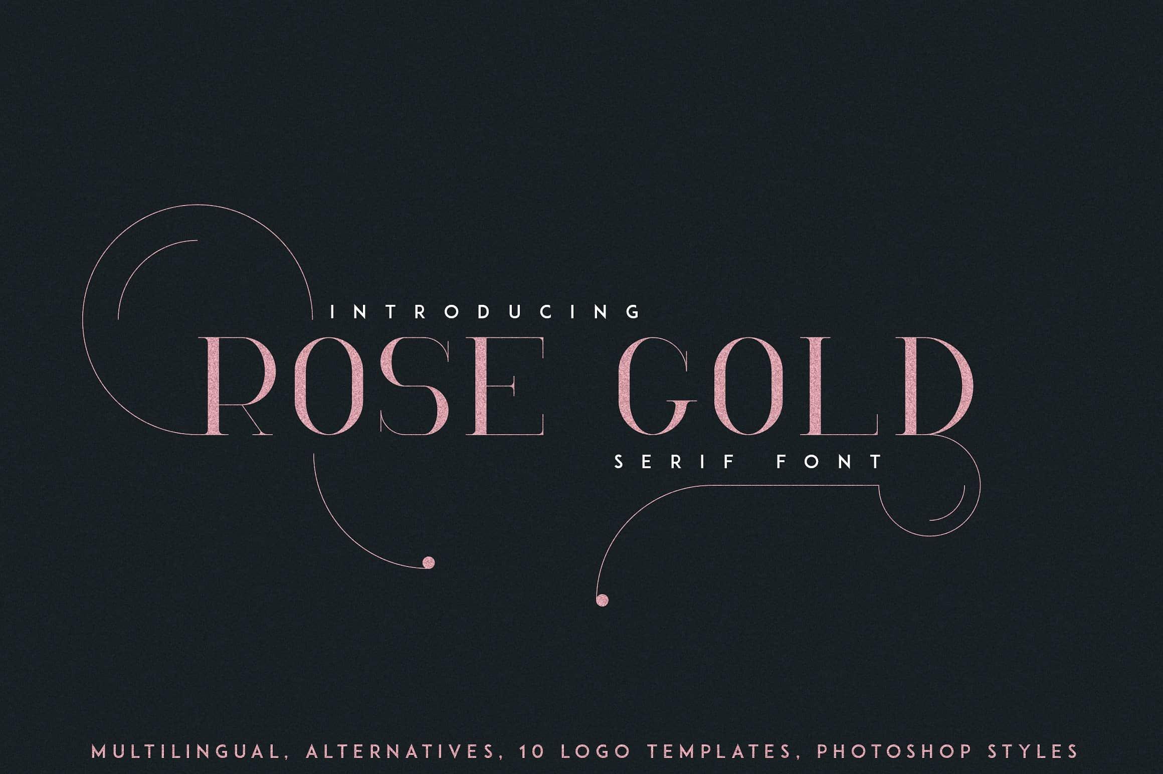 Download RoseGold font (typeface)