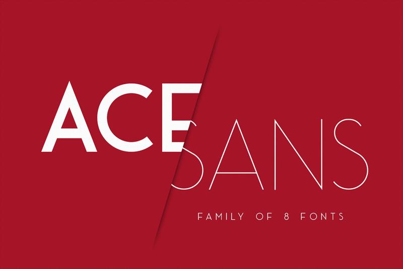 Download Ace Sans font (typeface)
