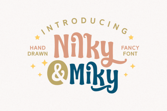 Download Nilky & Miky font (typeface)