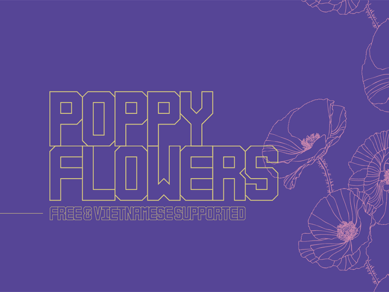 Download Poppy Flowers font (typeface)