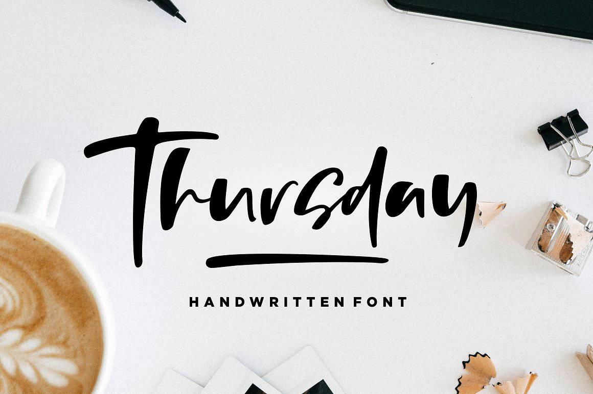 Download Thursday Vibes font (typeface)