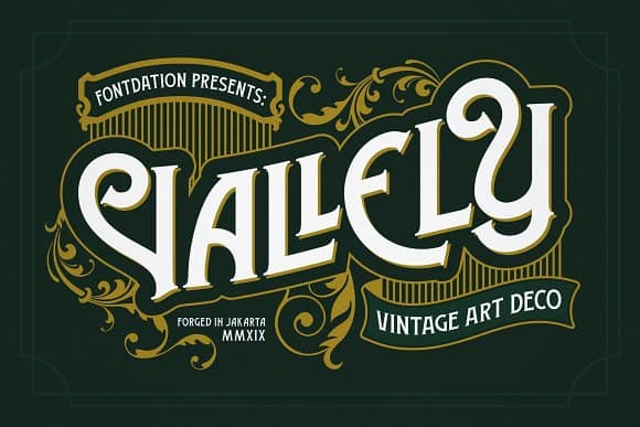 Download Vallely font (typeface)