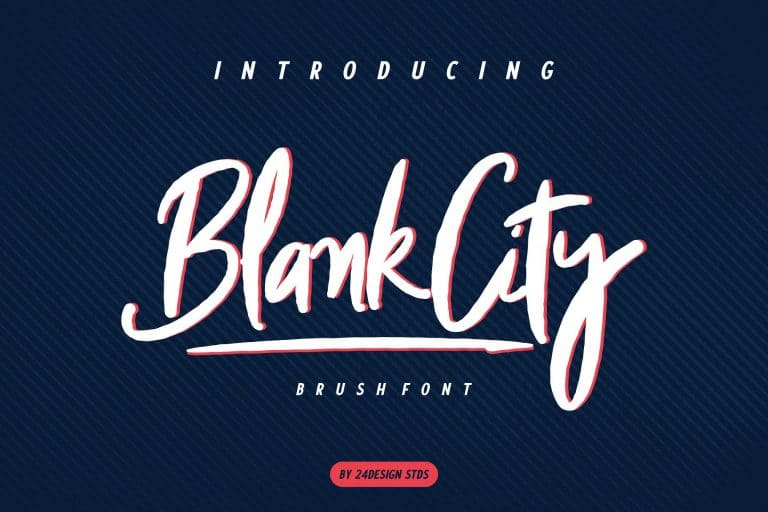 Download Blank City font (typeface)