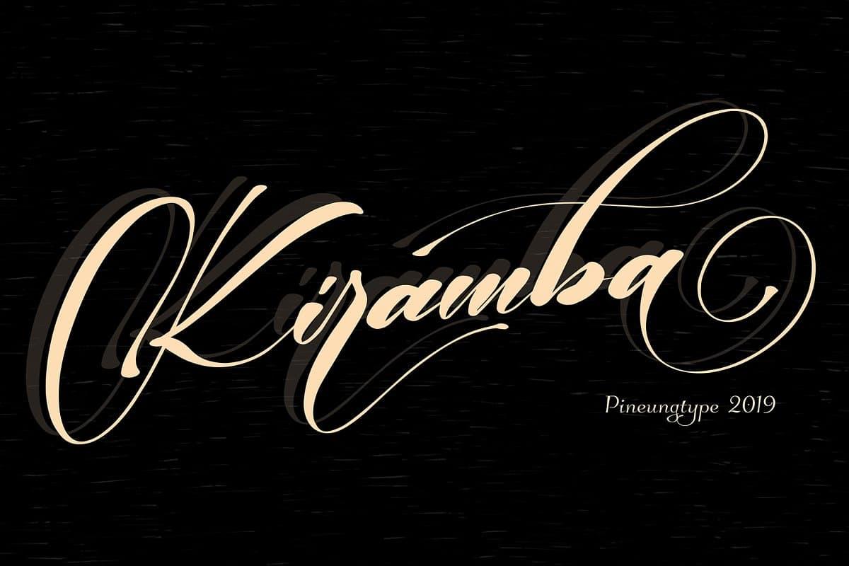 Download Kiramba font (typeface)