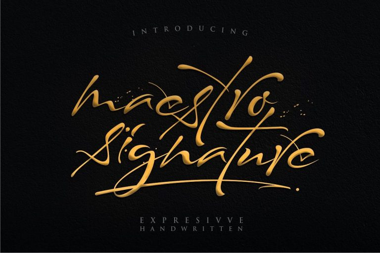 Download Maestro font (typeface)