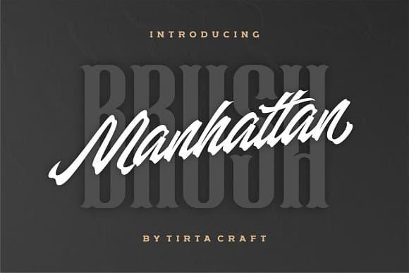 Download Manhattan Brush font (typeface)