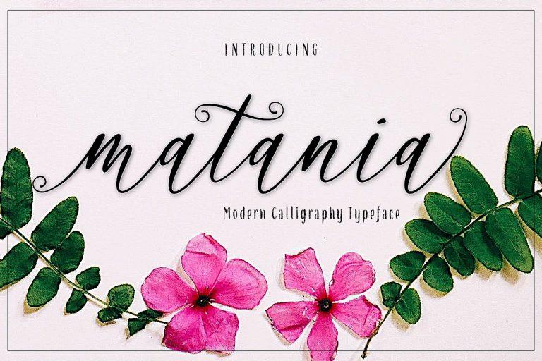 Download Matania font (typeface)